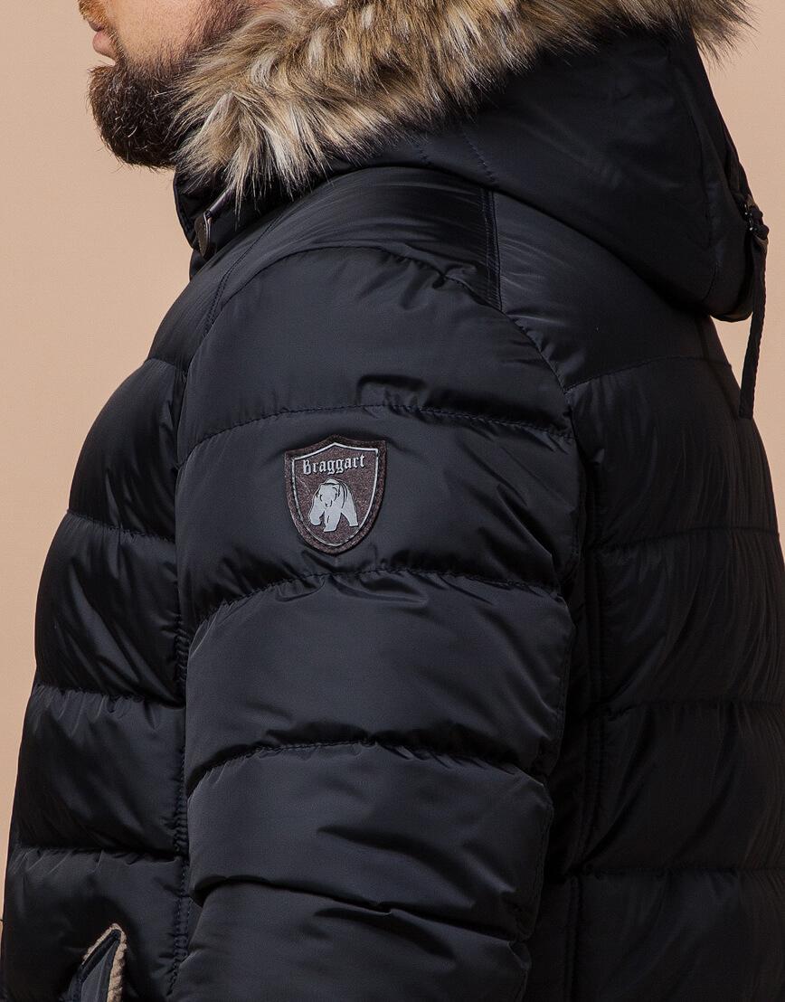 Куртка сине-черного цвета стильная модель 12149 фото 6