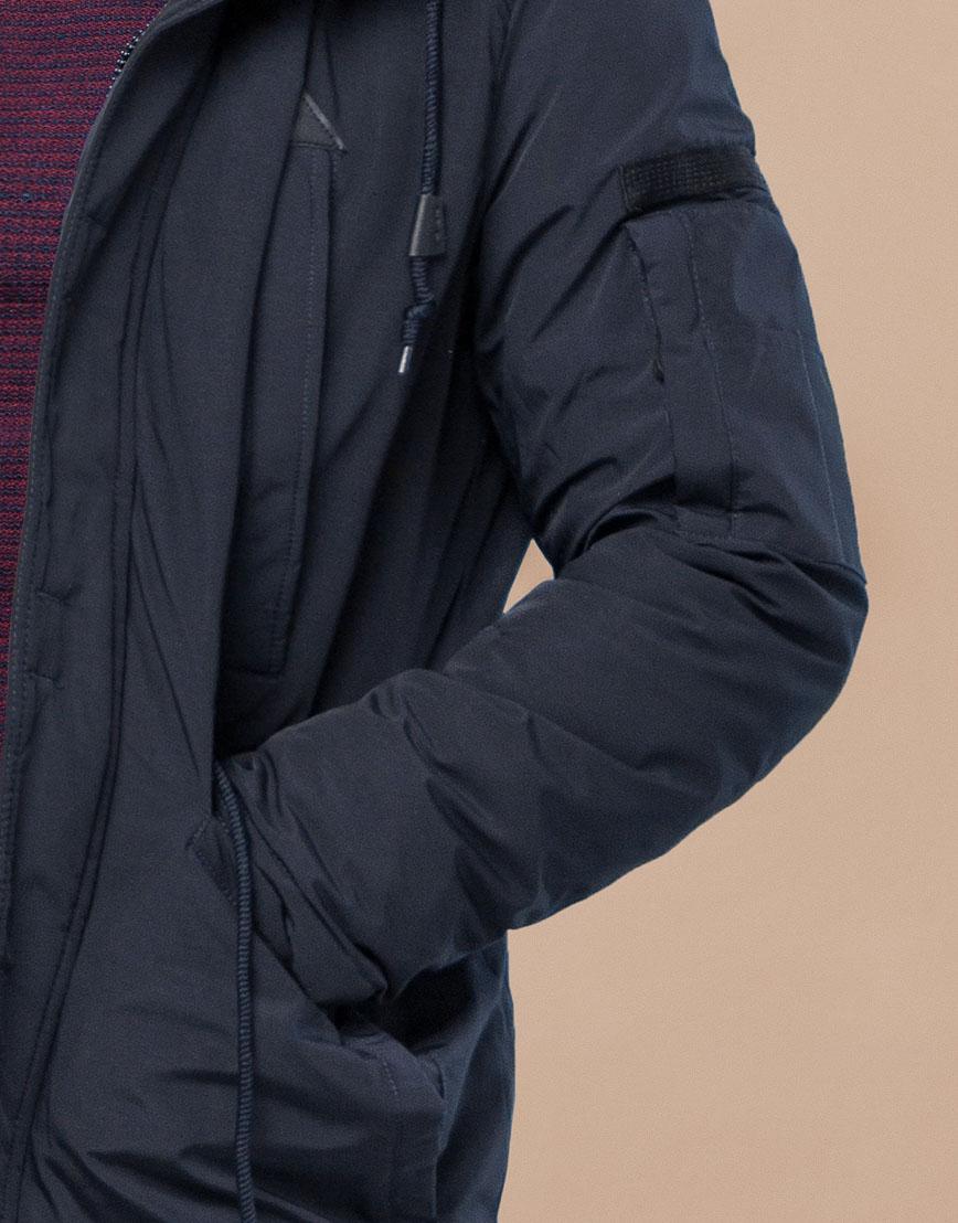Парка темно-синяя зимняя удобного фасона модель 25770 фото 6
