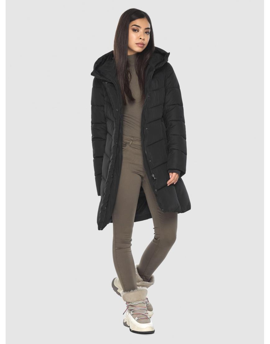 Куртка подростковая люксовая чёрная Moc зимняя M6540 фото 2