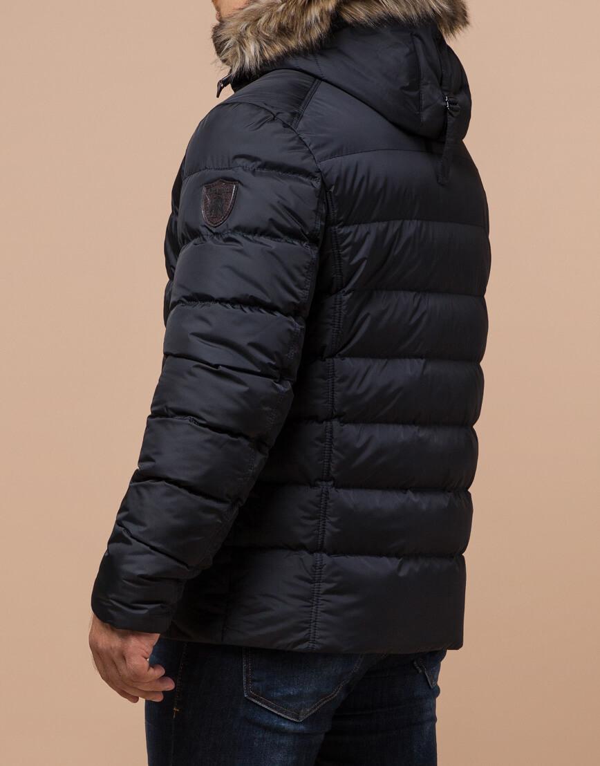Куртка сине-черного цвета стильная модель 12149 фото 3