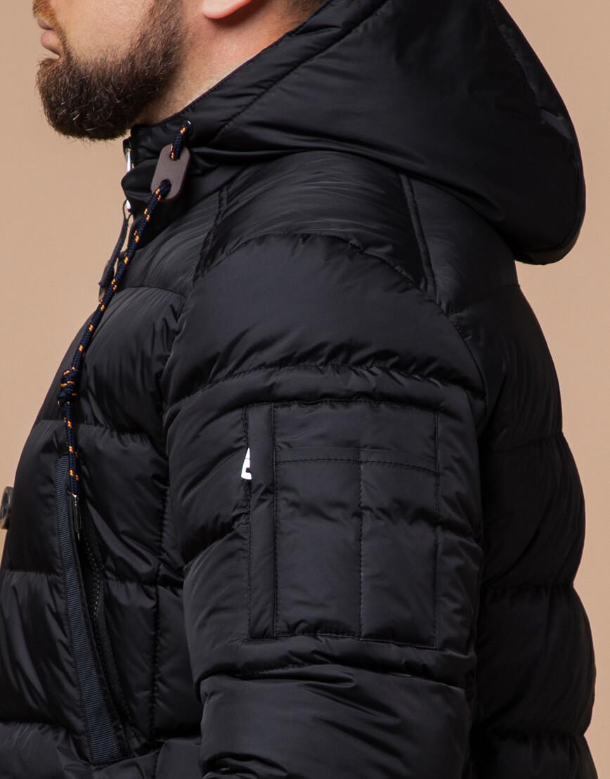 Мужская куртка черная зимняя модель 26402 оптом