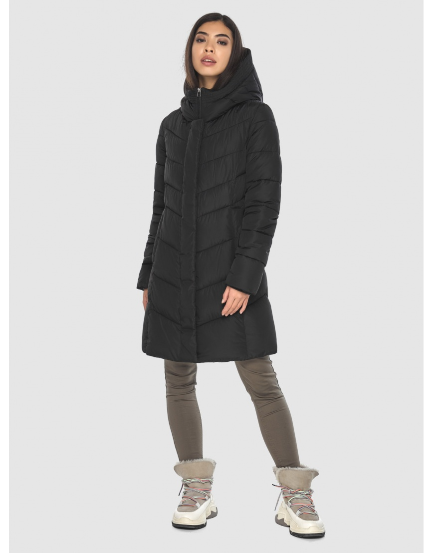 Куртка подростковая люксовая чёрная Moc зимняя M6540 фото 1
