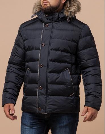 Куртка сине-черного цвета стильная модель 12149 фото 1
