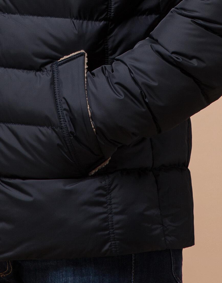 Куртка сине-черного цвета стильная модель 12149 фото 5