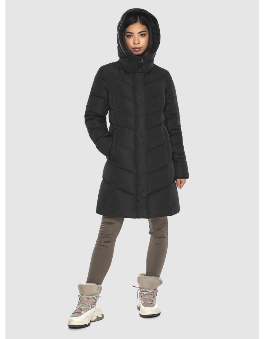 Куртка подростковая люксовая чёрная Moc зимняя M6540 фото 5