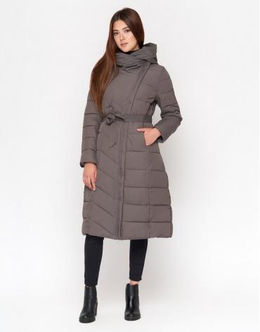 Куртка зимняя женская цвет серый модель DR23