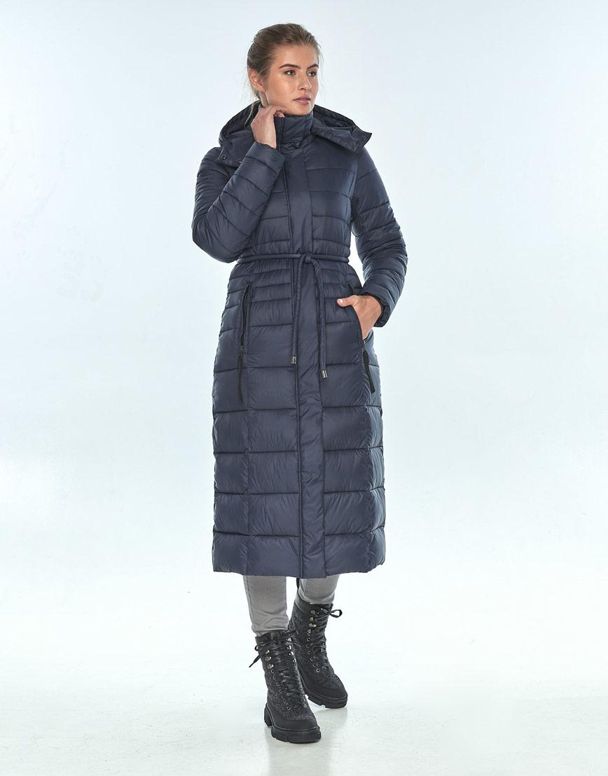 Практичная женская куртка Ajento зимняя синяя 21375 фото 2