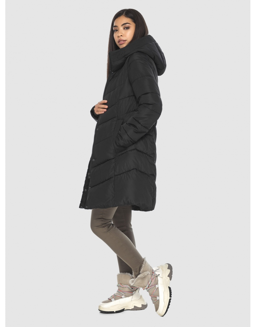 Куртка подростковая люксовая чёрная Moc зимняя M6540 фото 6