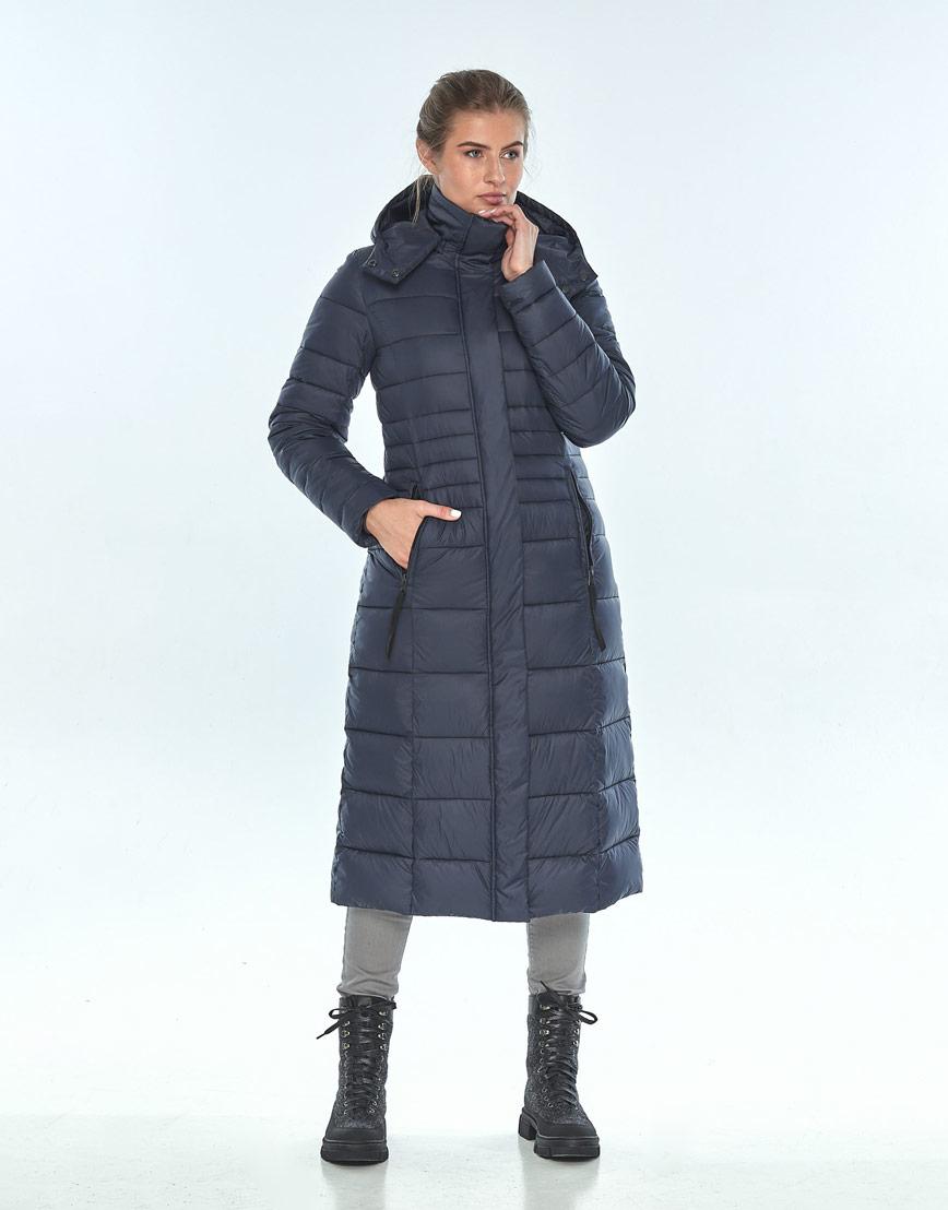 Практичная женская куртка Ajento зимняя синяя 21375 фото 1