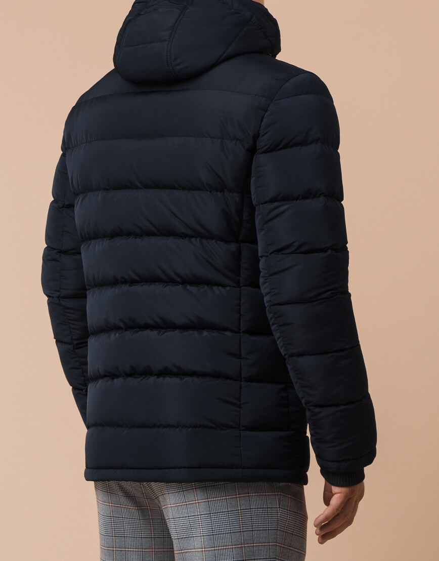 Темно-синяя куртка с карманами мужская модель 38828