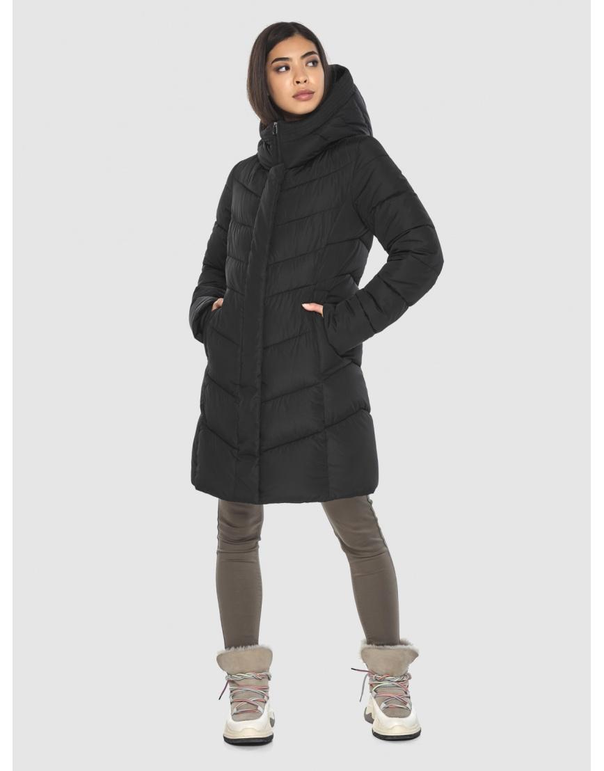 Куртка подростковая люксовая чёрная Moc зимняя M6540 фото 3