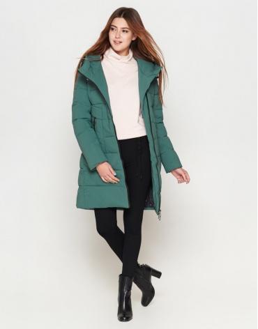 Куртка теплая женская зеленая модель 25035 фото 1