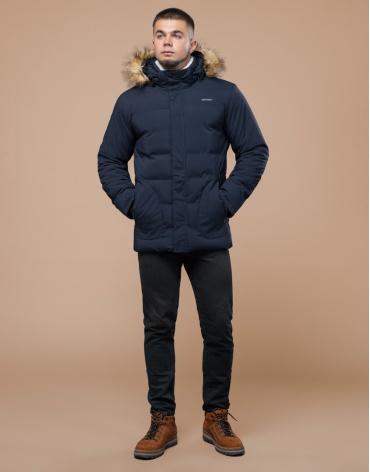 Синяя подростковая куртка трендовая модель 25780 оптом фото 1