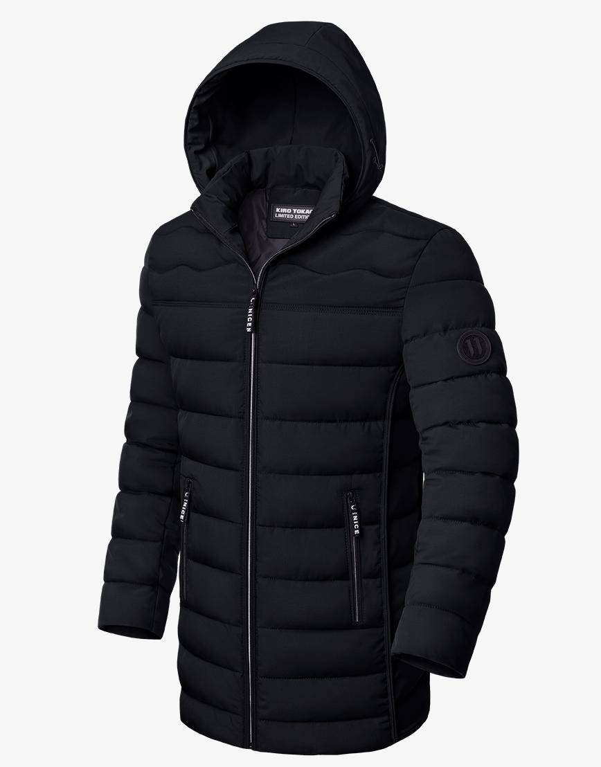 Куртка зимняя стильная черная модель 8803 фото 1