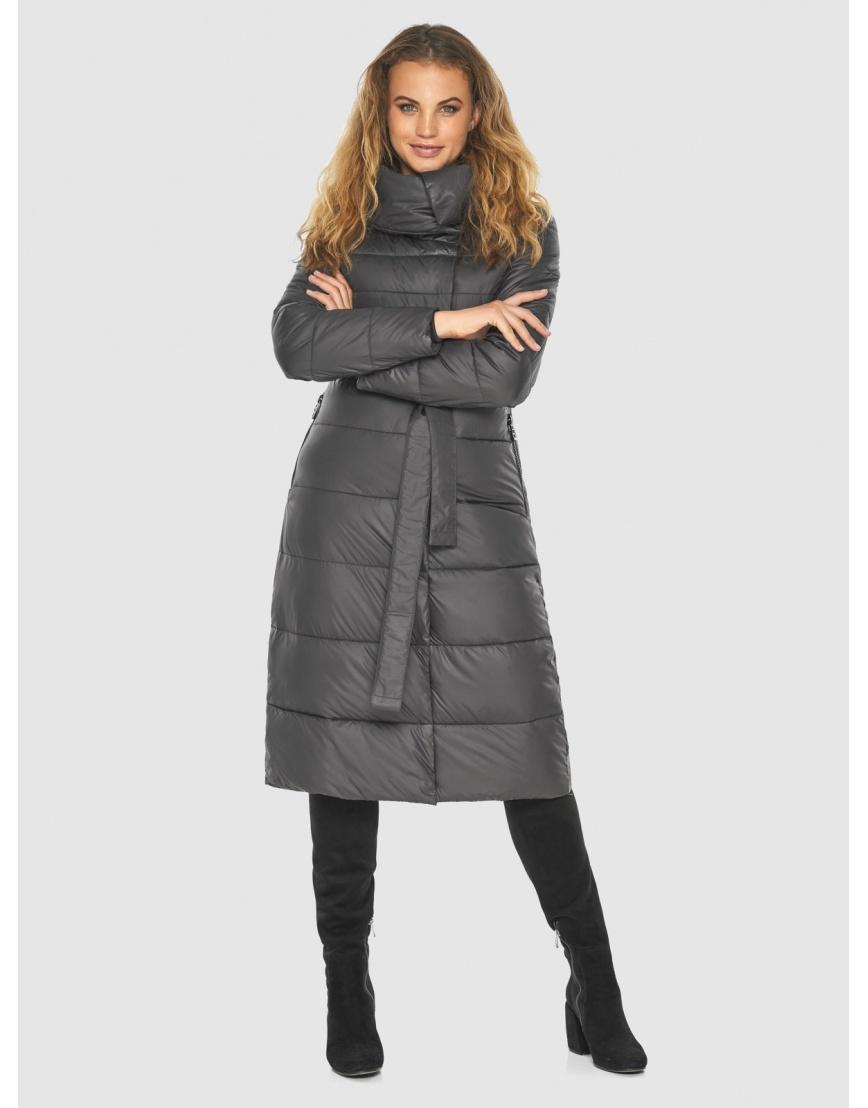 Серая фирменная куртка женская Kiro Tokao 60015 фото 5