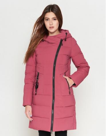 Женская розовая куртка с карманами модель 25325