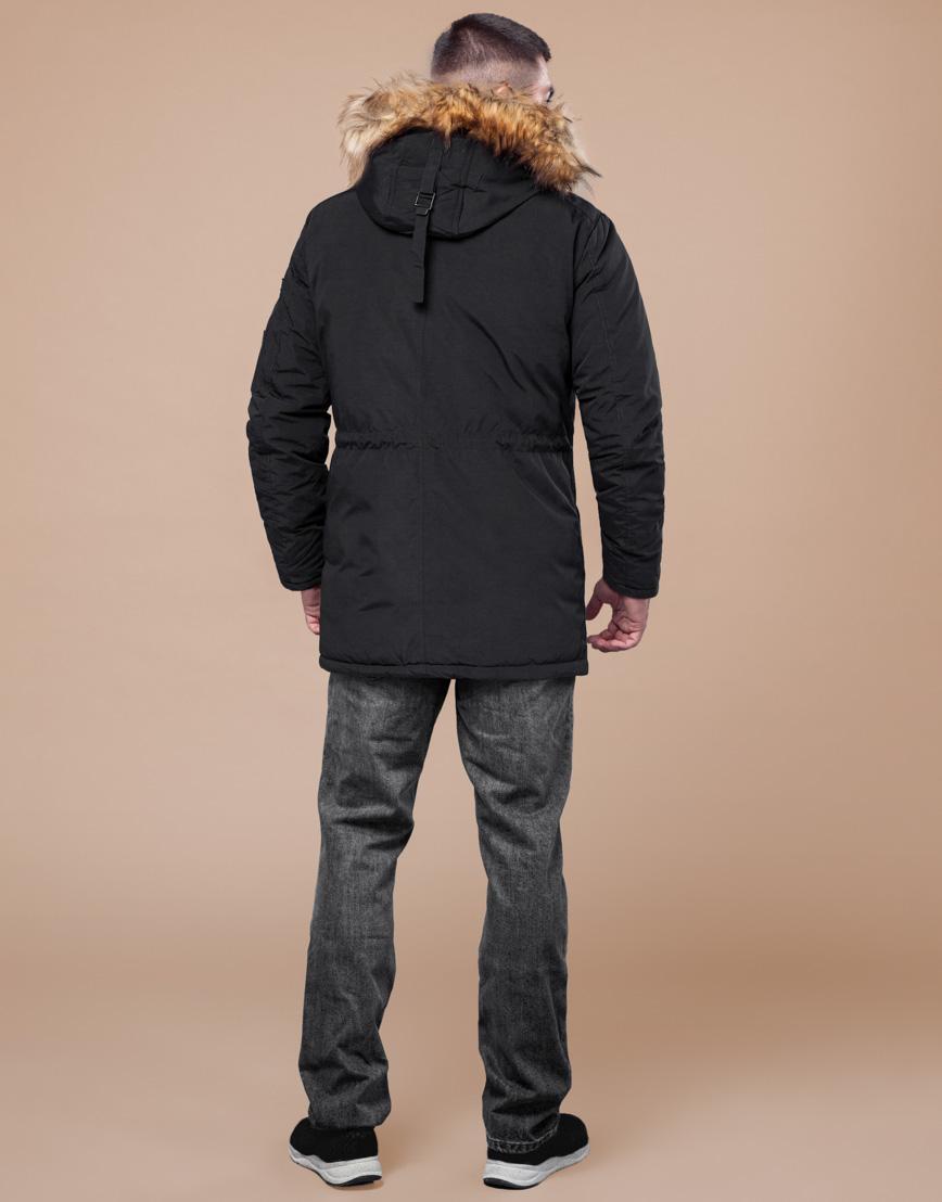 Черная парка зимняя фирменная модель 25770 фото 4