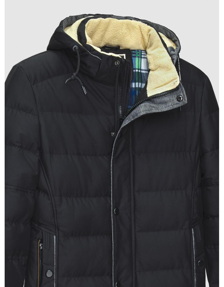 54 (XXL) – последний размер – куртка с капюшоном чёрная MFKK мужская для зимы 200028 фото 3
