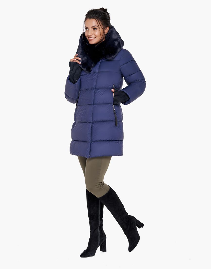 Комфортный синий воздуховик Braggart женский на зиму модель 31027