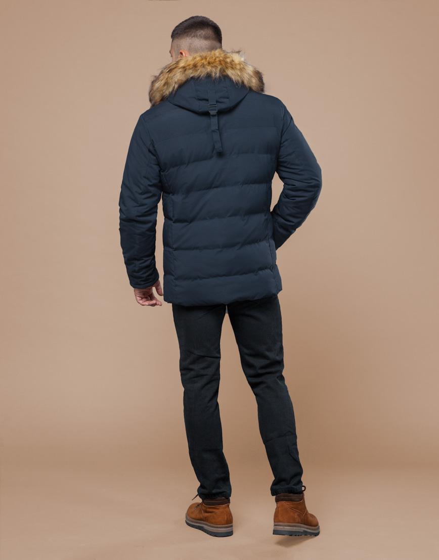 Куртка темно-синяя фирменная подростковая модель 25780 оптом фото 4