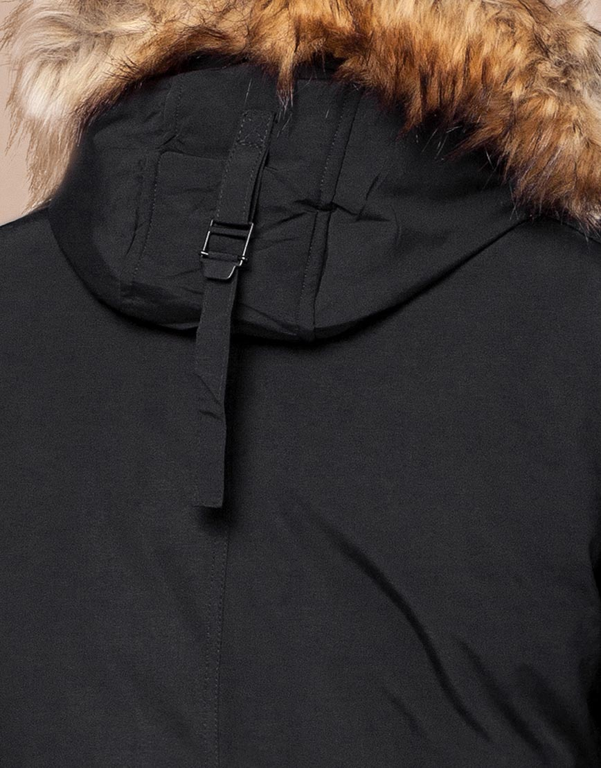 Черная парка зимняя фирменная модель 25770 фото 7