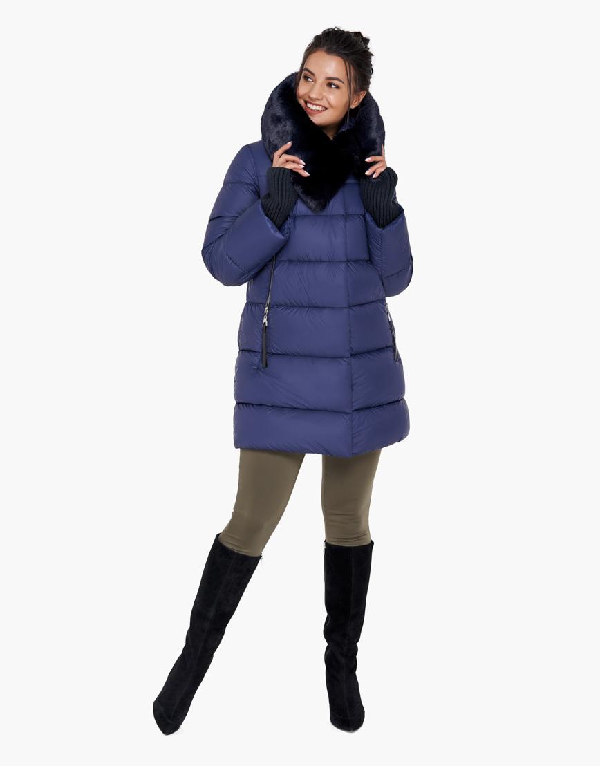 Комфортный синий воздуховик Braggart женский на зиму модель 31027 фото 4