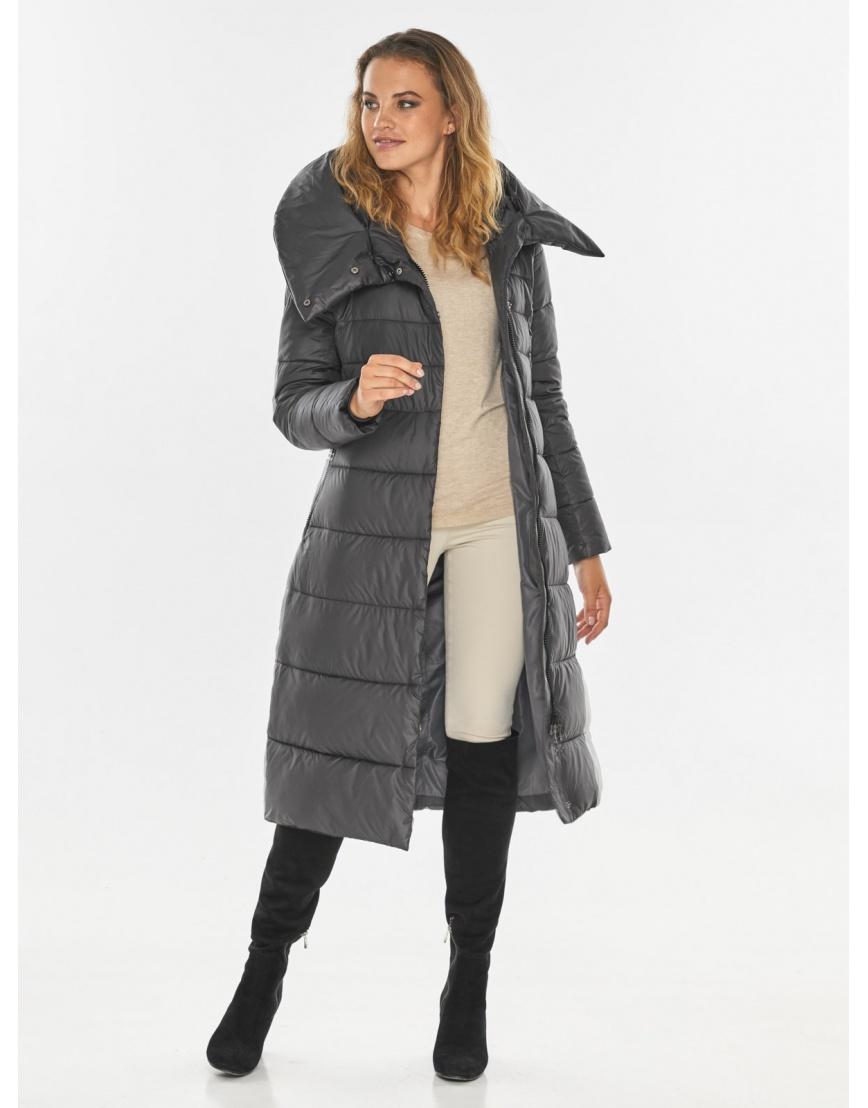 Серая фирменная куртка женская Kiro Tokao 60015 фото 3