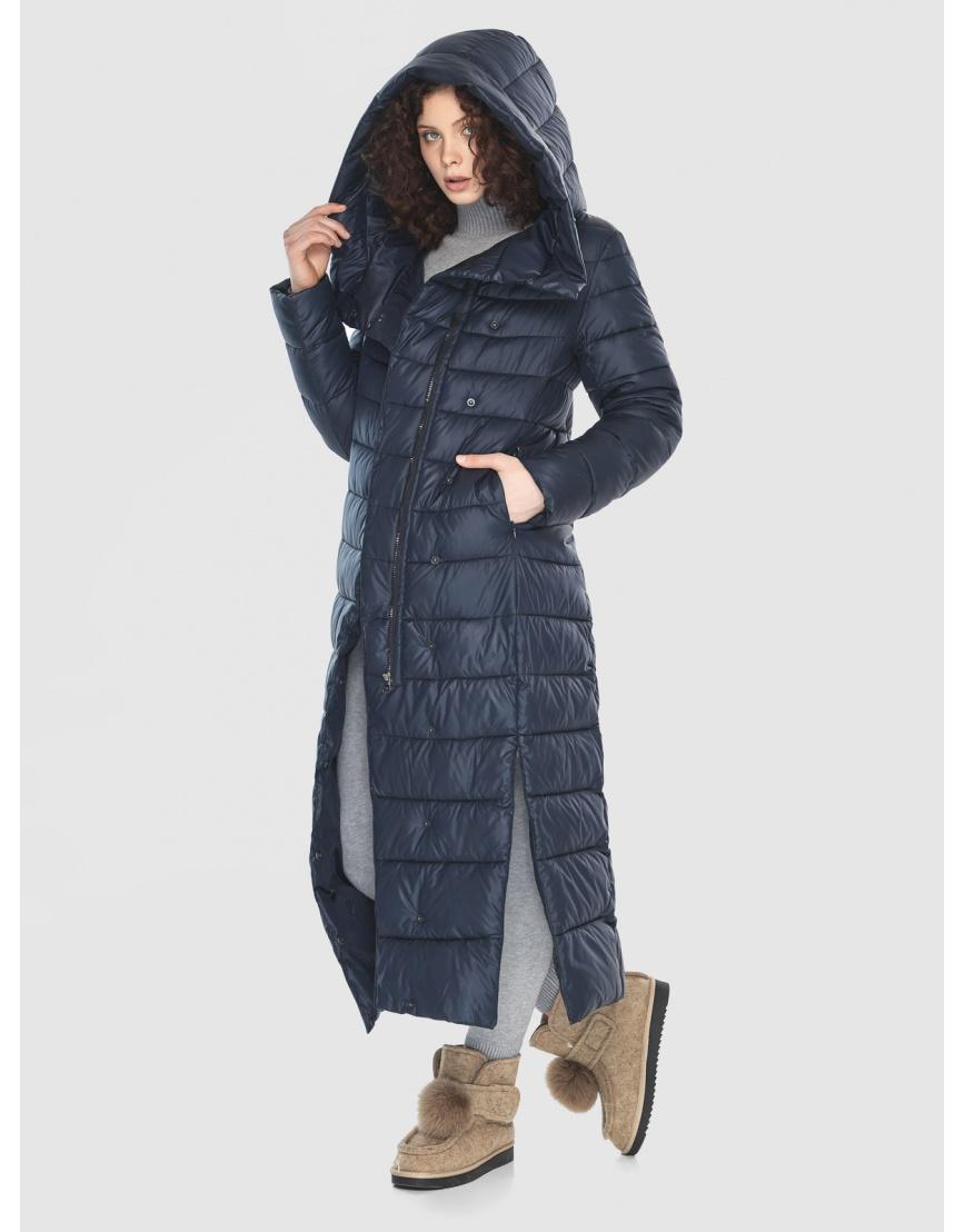 Женская куртка Moc синяя тёплая M6210 фото 5