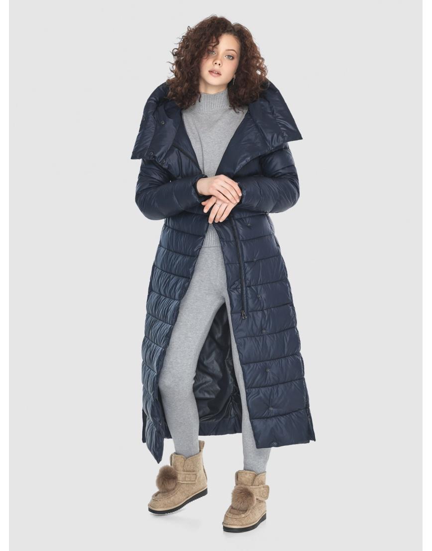 Женская куртка Moc синяя тёплая M6210 фото 3
