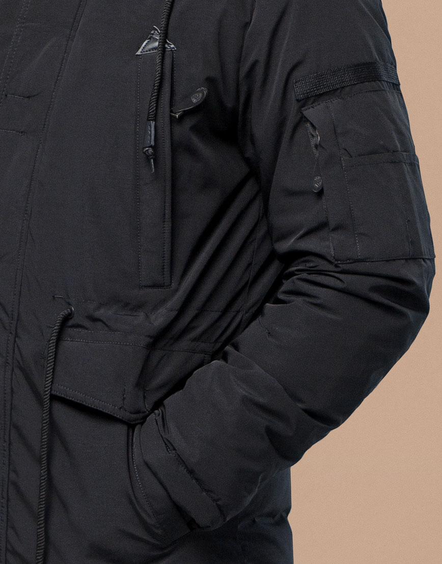 Черная парка зимняя фирменная модель 25770 фото 6