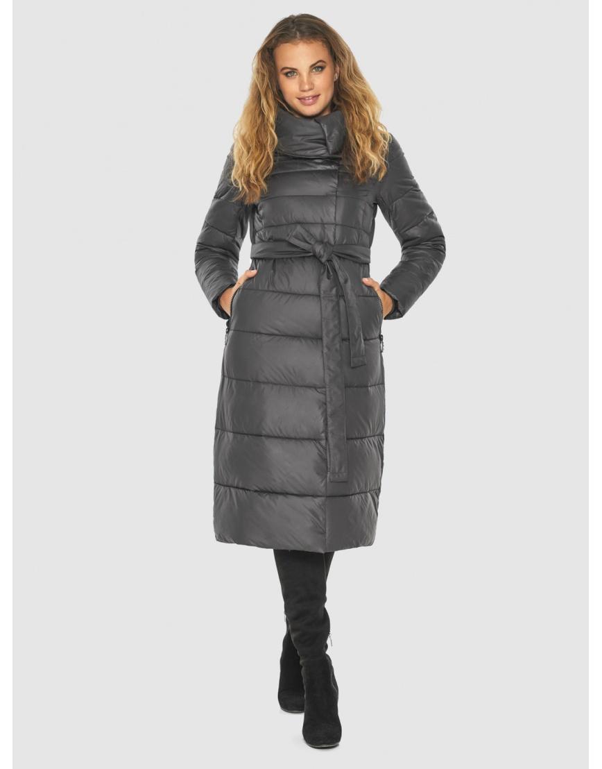 Серая фирменная куртка женская Kiro Tokao 60015 фото 6