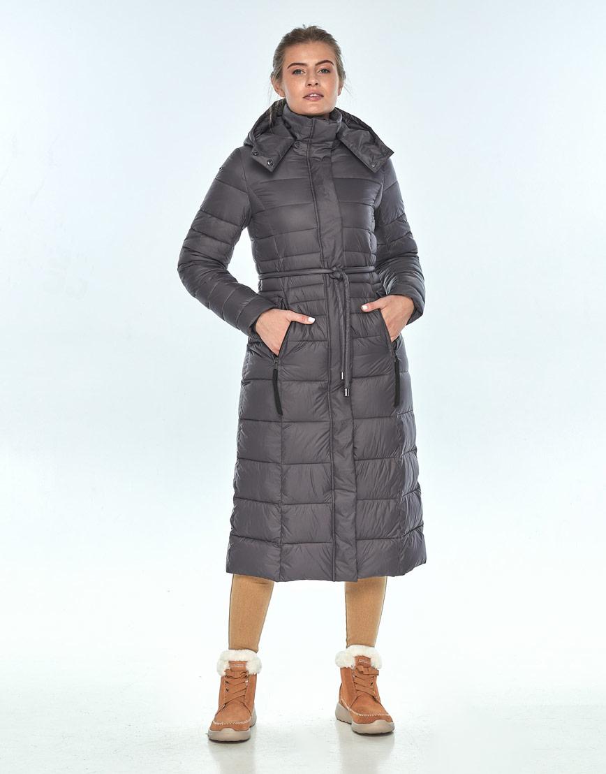 Куртка Ajento удобная серая женская на зиму 21375 фото 2