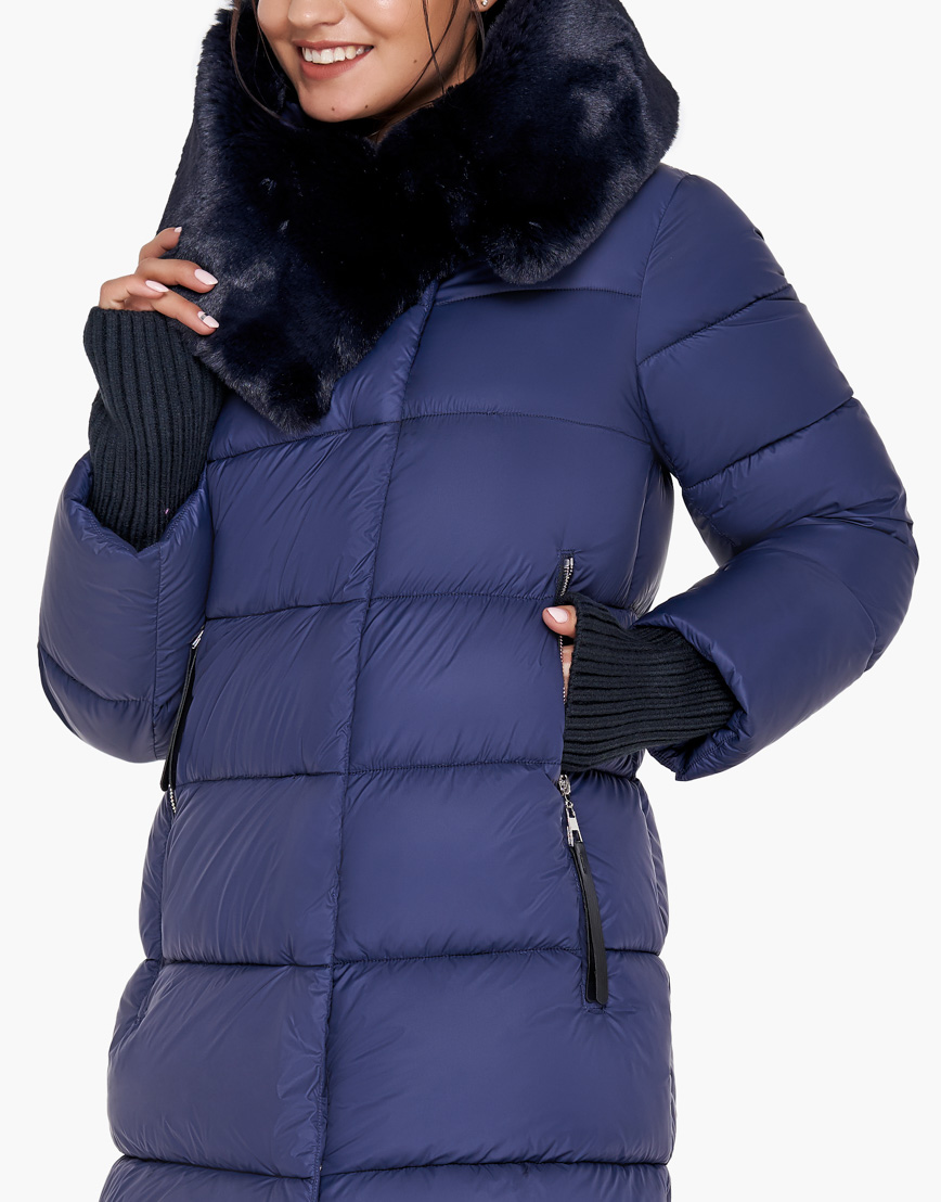 Комфортный синий воздуховик Braggart женский на зиму модель 31027 фото 6
