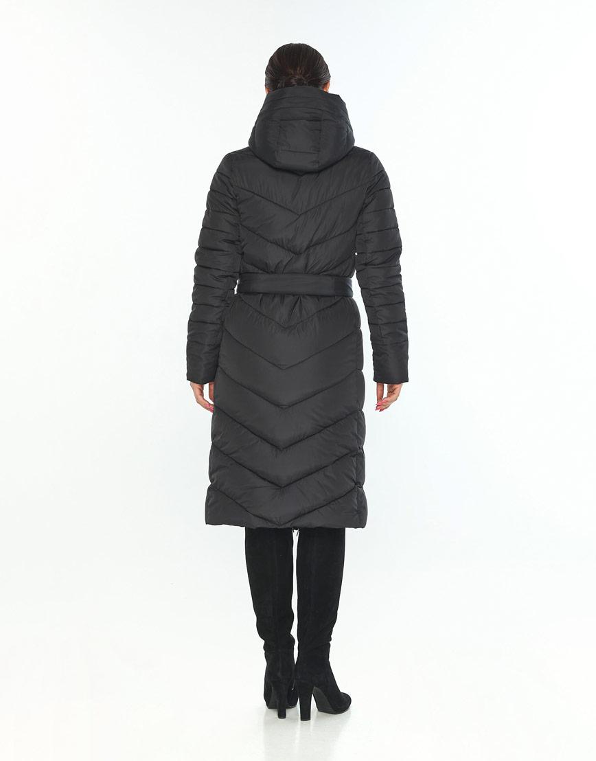 Длинная куртка Wild Club женская чёрная с поясом 538-74 фото 3