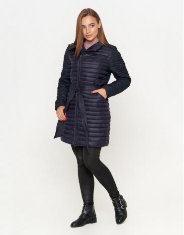 Куртка трендового дизайна женская синяя модель 577