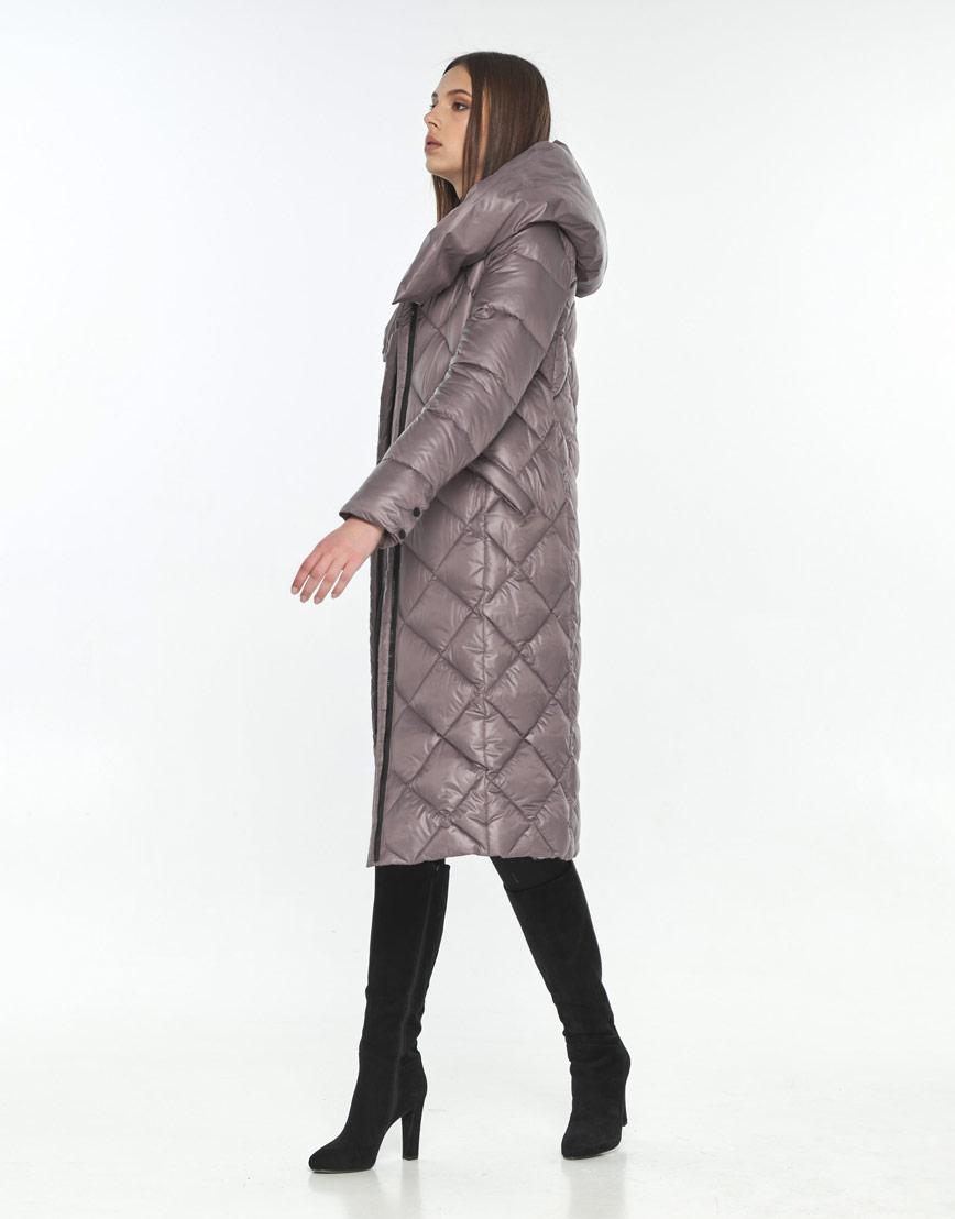 Куртка длинная пудровая женская Wild Club модная 594-37 фото 2