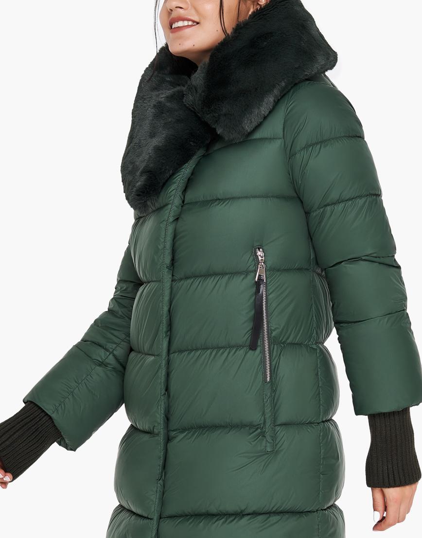 Зимний нефритовый воздуховик женский Braggart качественный модель 31027