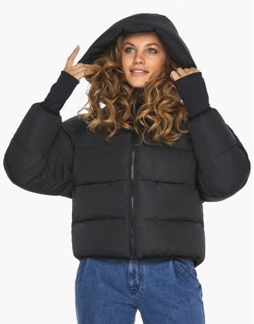 Куртка пуховик Youth черный женский высокого качества модель 26420 фото 1