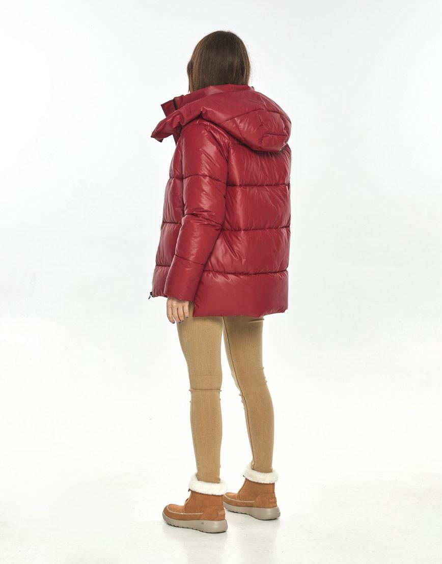 Красная осенне-весенняя трендовая куртка Ajento женская 22430 фото 3