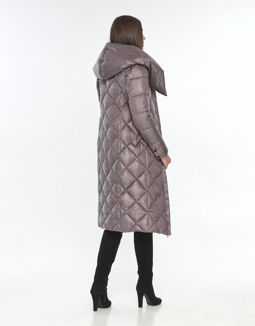 Куртка длинная пудровая женская Wild Club модная 594-37 фото 3