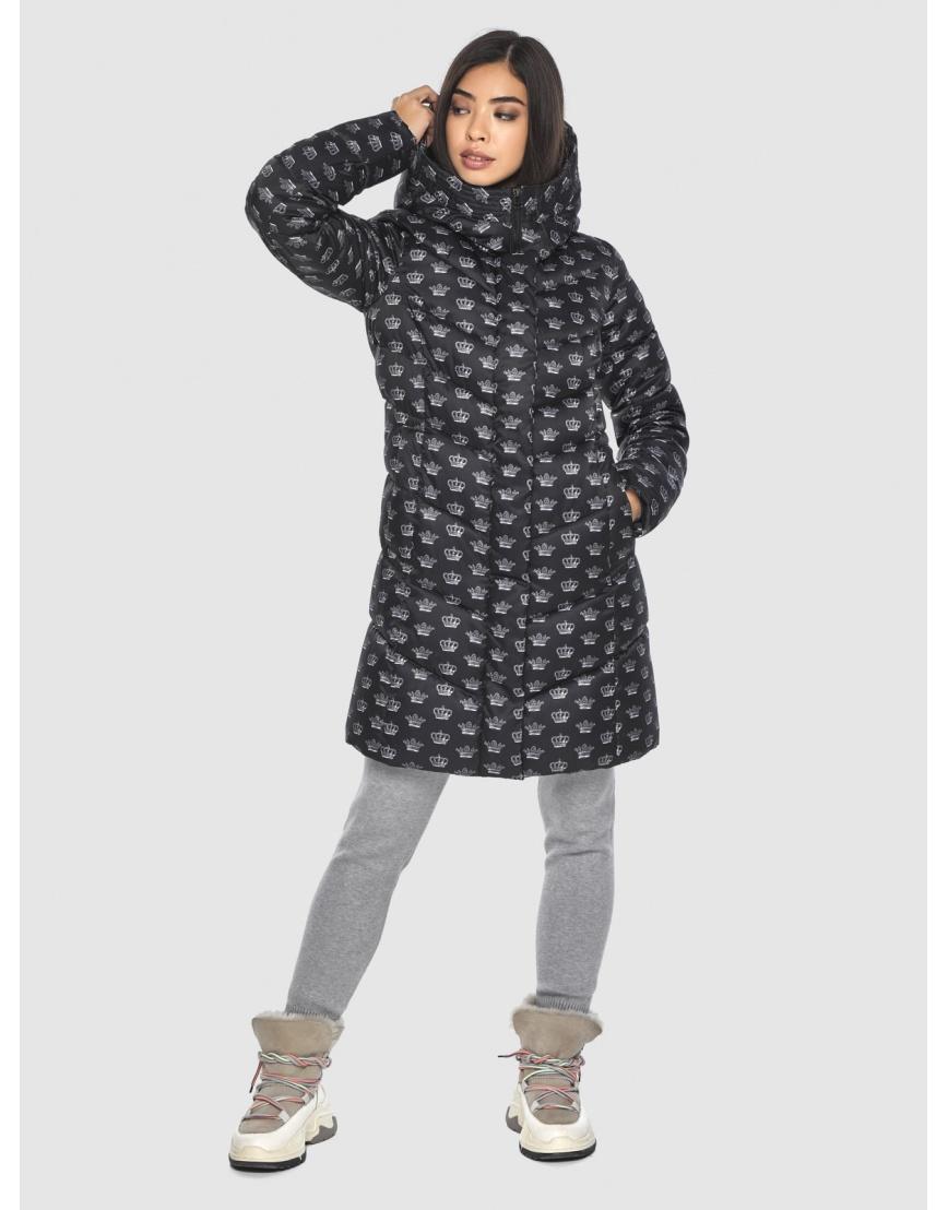 Куртка элегантная подростковая Moc с рисунком зимняя M6540 фото 5