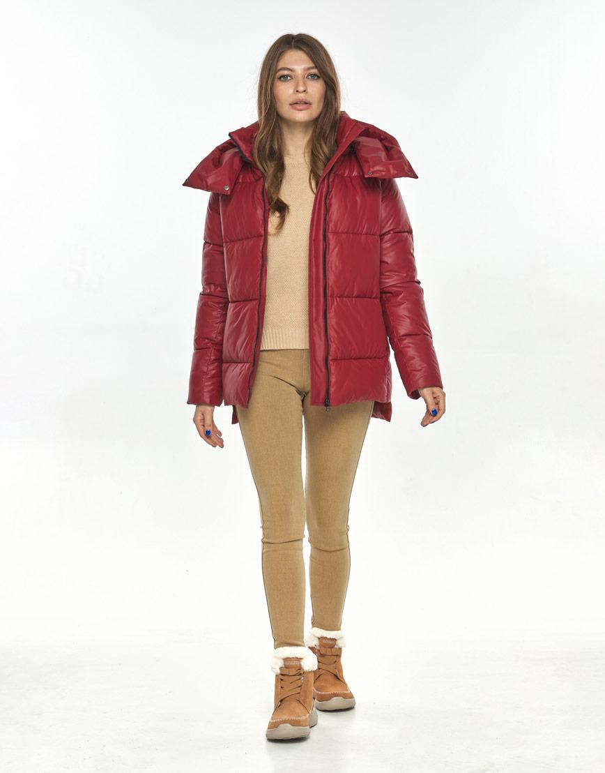 Красная осенне-весенняя трендовая куртка Ajento женская 22430 фото 2