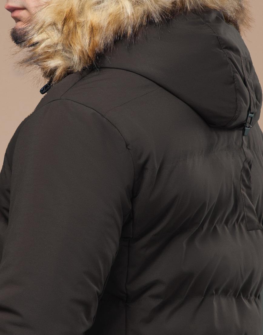 Куртка оригинальная зимняя цвета кофе модель 25780 фото 7
