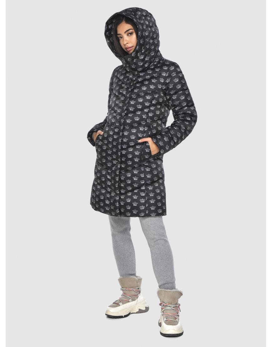 Куртка элегантная подростковая Moc с рисунком зимняя M6540 фото 3