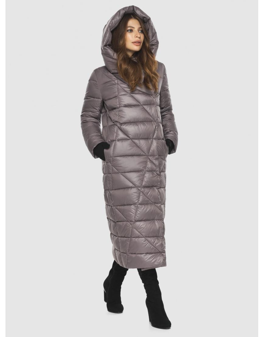 Пудровая стильная куртка женская Ajento 23795 фото 3