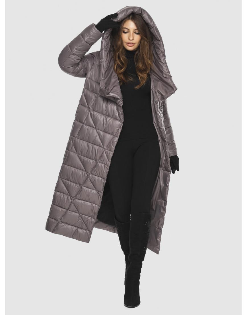 Пудровая стильная куртка женская Ajento 23795 фото 6