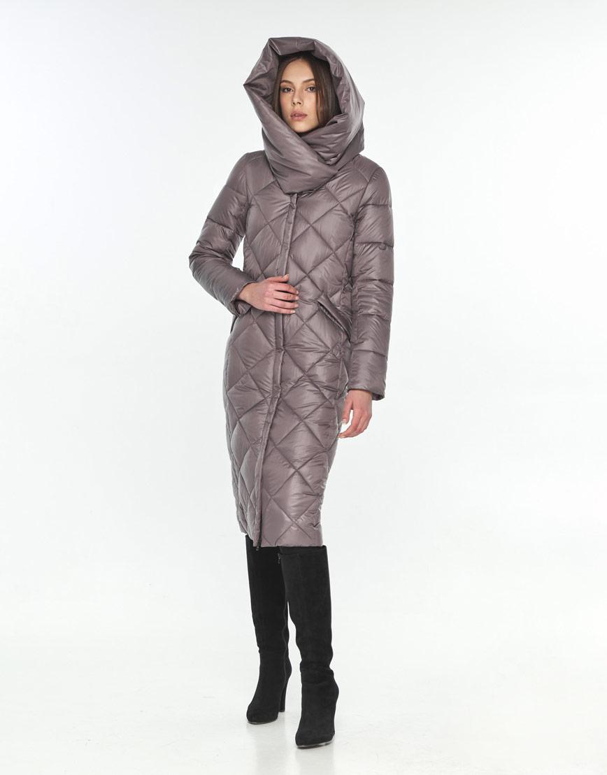 Куртка длинная пудровая женская Wild Club модная 594-37 фото 1