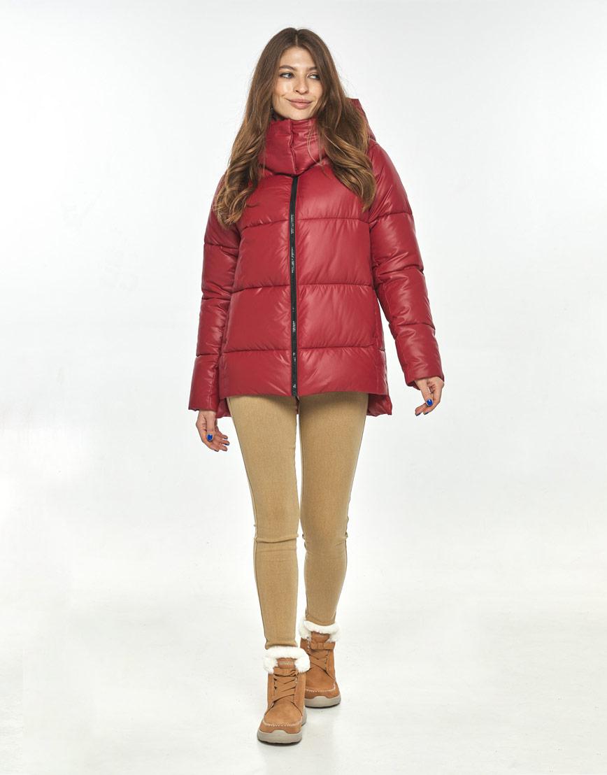 Красная осенне-весенняя трендовая куртка Ajento женская 22430 фото 1