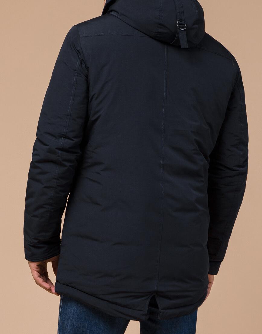 Зимняя парка для мужчин темно-синяя модель 28431 оптом
