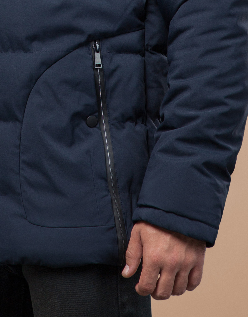 Синяя куртка мужская на зиму модель 25780 фото 6